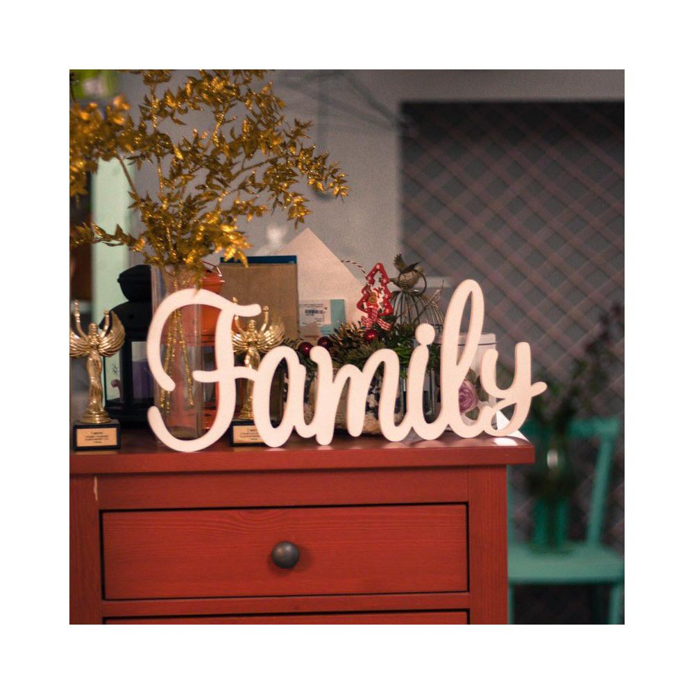 "Буквы на свадьбу - слово ""Family"""
