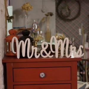 """Буквы на свадьбу - слово """"Mr & Mrs"""""""