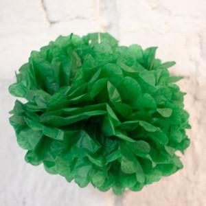 Помпон бумажный (зеленый)
