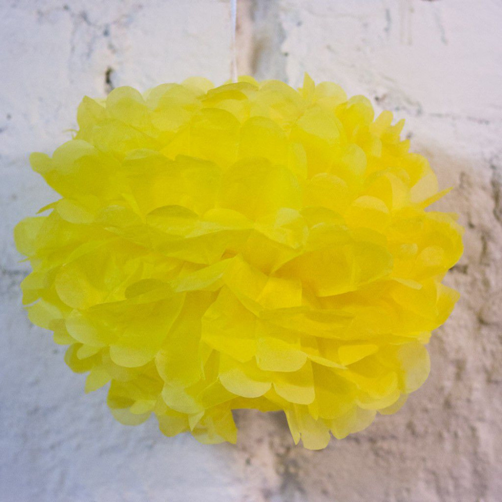 Помпон бумажный (желтый)