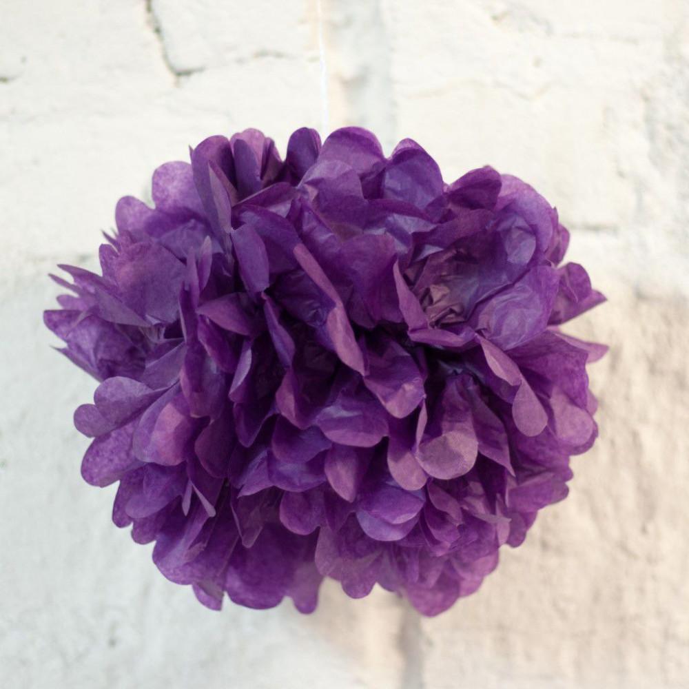 Помпон бумажный (фиолетовый)