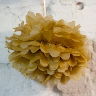 Помпон бумажный (песочный)