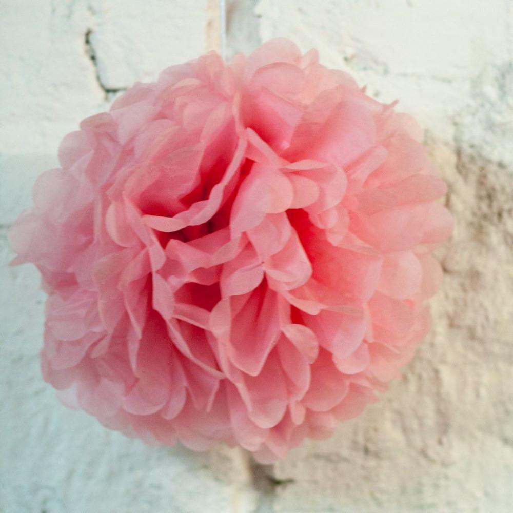 Помпон бумажный (св. розовый)