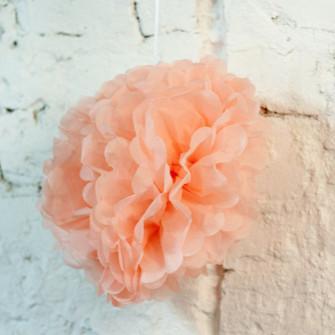 Помпон бумажный (бледно-розовый)