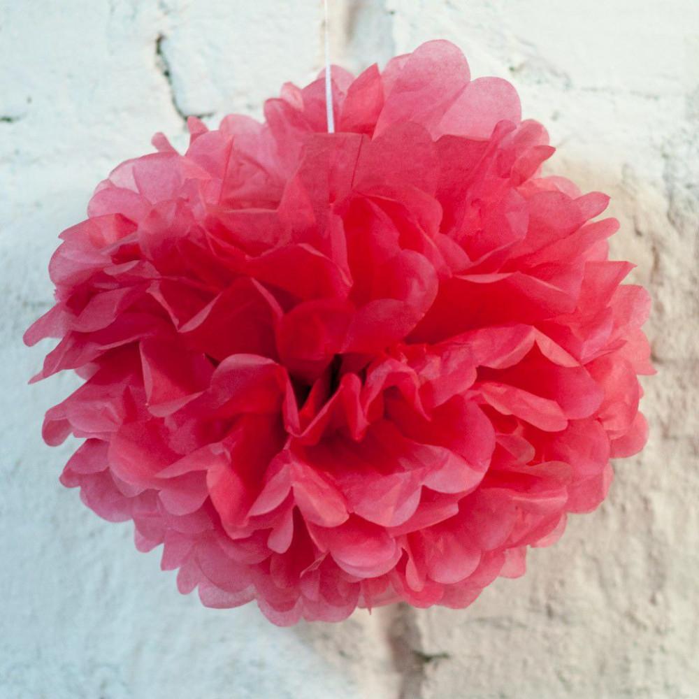 Помпон бумажный (розовый)