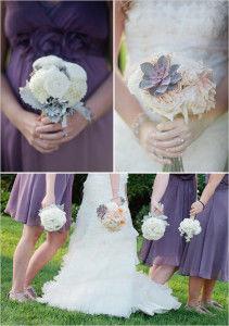 фиолетовое оформление свадьбы