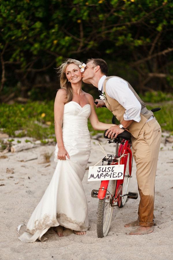 свадьба с велосипедом