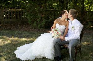 оригинальное свадебное фотография
