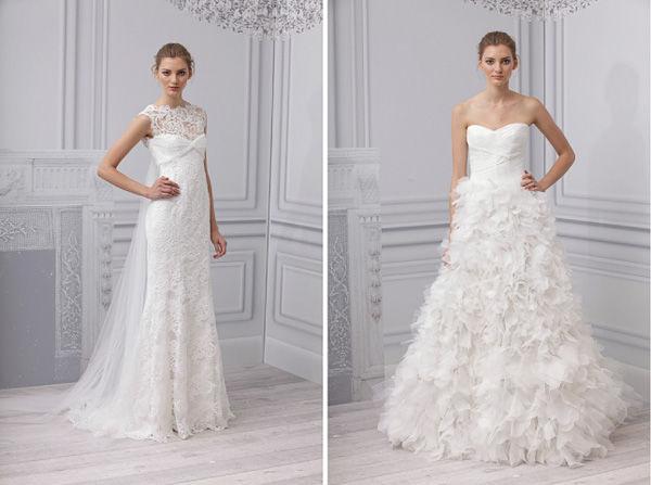 свадебное платье с гладким корсетом