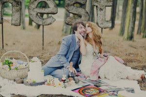 гламурный пикник жениха и невесты