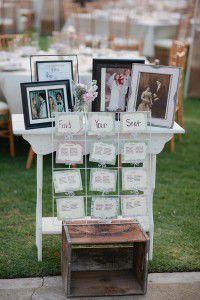 свадебный столик с фото