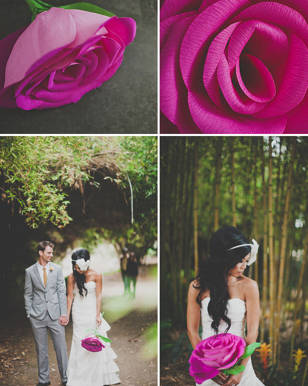 роза из бумаги своими руками на свадьбу