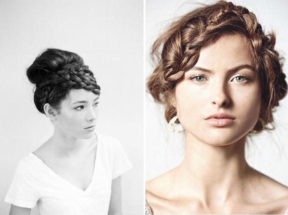 прическа невесты коса