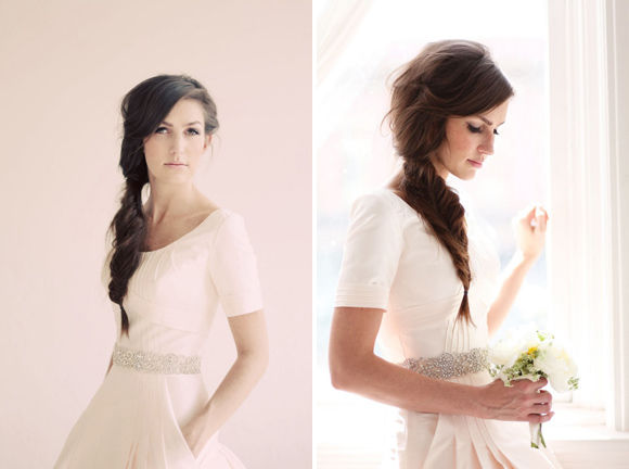 свадебная прическа косы