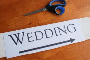 как сделать свадебную табличку