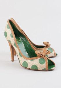 туфли в горошек moschino