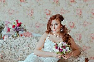 свадебный образ невесты в винтажном стиле