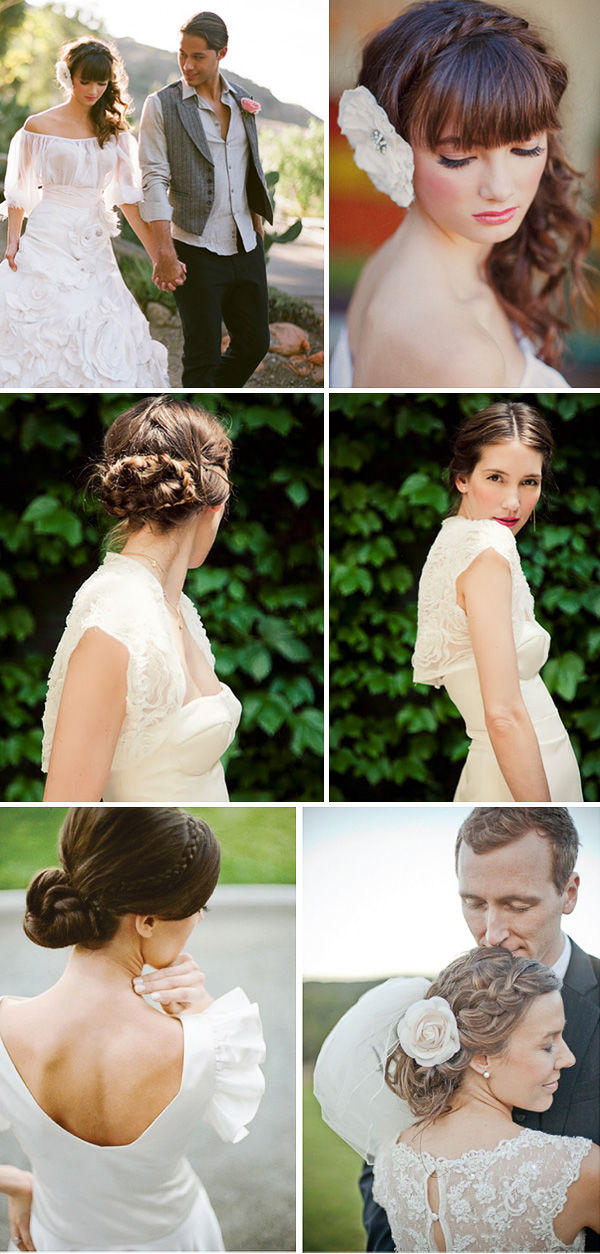 прически на свадьбы косы