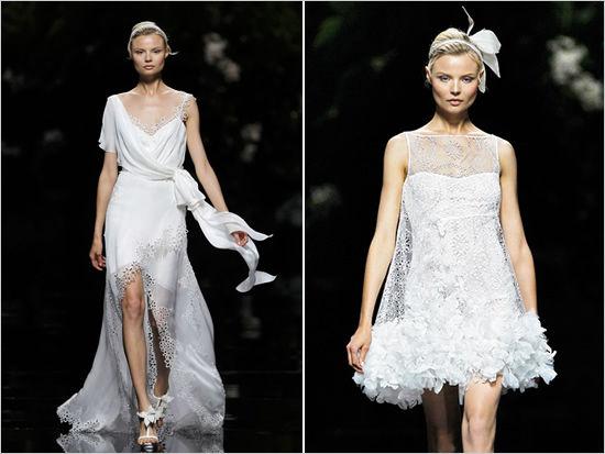 короткие свадебные платья pronovias