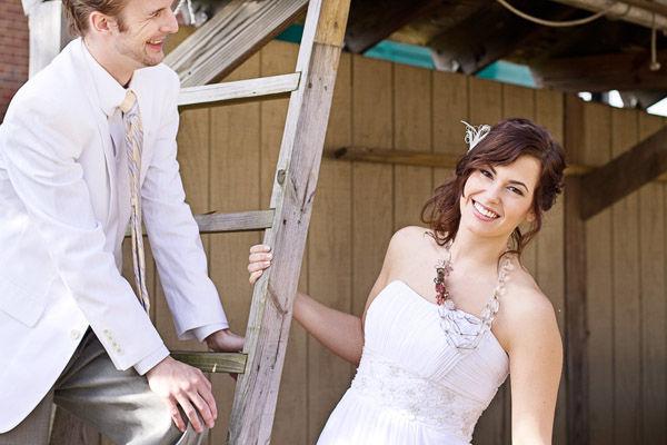 свадебный образ невесты и жениха