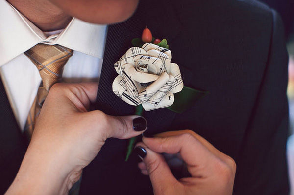 свадебная бутоньерка своими руками