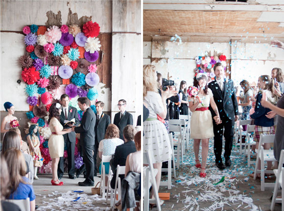 оригинальное оформление свадьбы