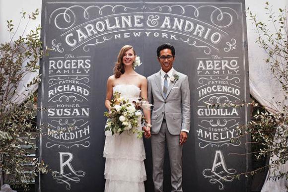 меловая доска на свадьбу