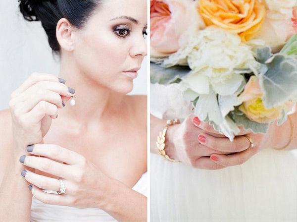 свадебный маникюр невесты