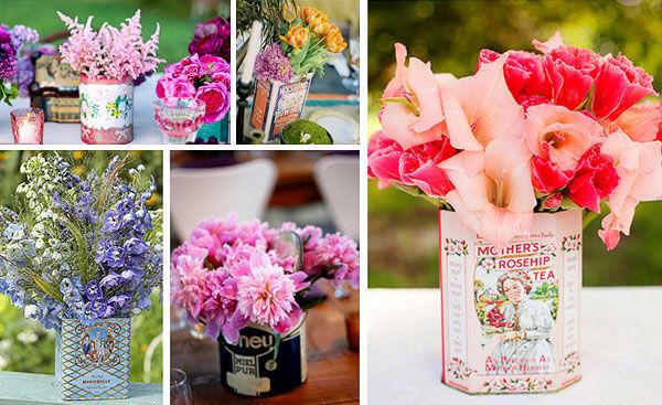 украшение цветами свадебного стола