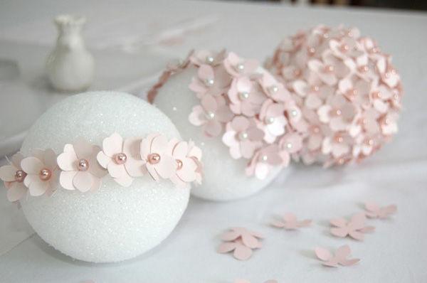 цветочный шар из бумаги