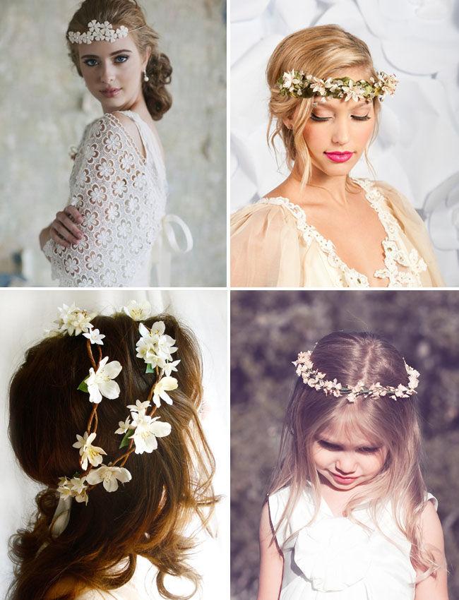 свадебные прически с цветком фото