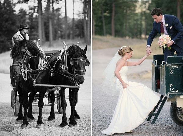 повозка на свадьбе