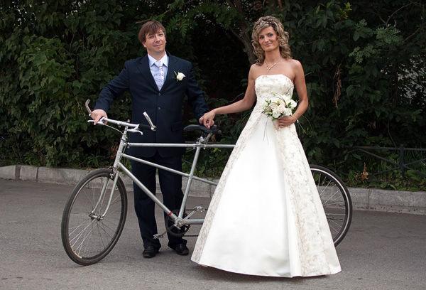свадьба с велосипедами