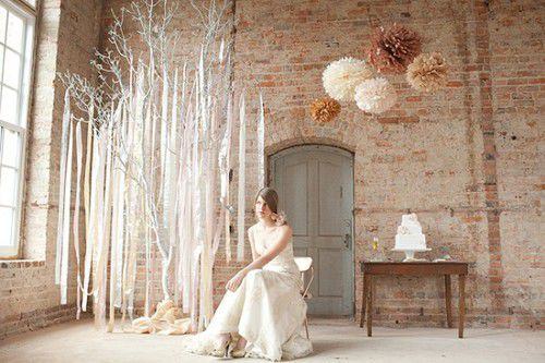 украшение свадьбы лентами