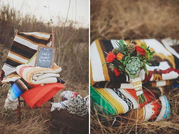 яркие аксессуары для инди свадьбы