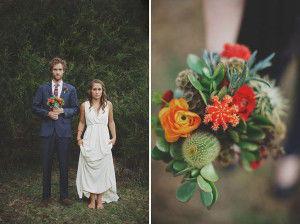 букет невесты с кактусом