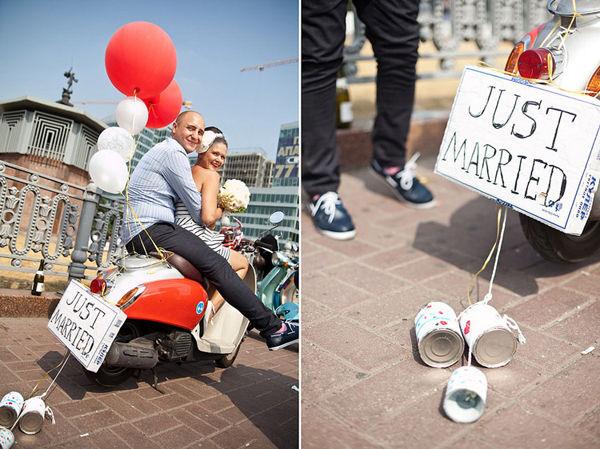 свадьба скутеры