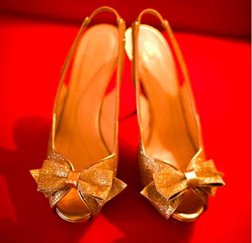 золотые туфли на свадьбу
