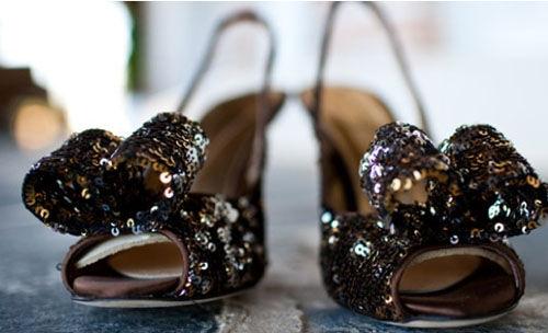 свадебные черные туфли