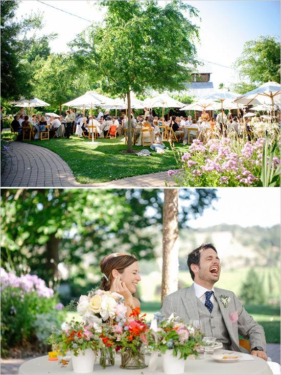 свадьба летом на природе