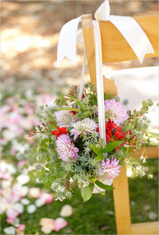 свадебное оформление цветами