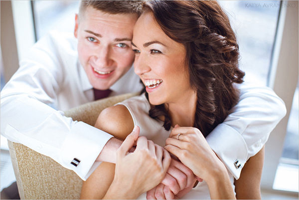 свадебная осенняя фотография