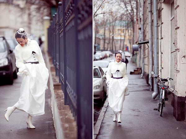 платье на свадьбу осенью