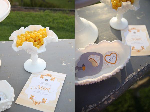 оформление свадьбы желтый и серый