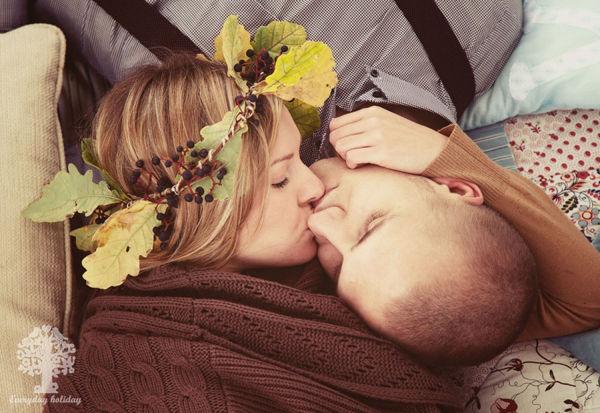 осенняя фотосессия love story