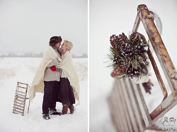 зимнее оформление фотосессии
