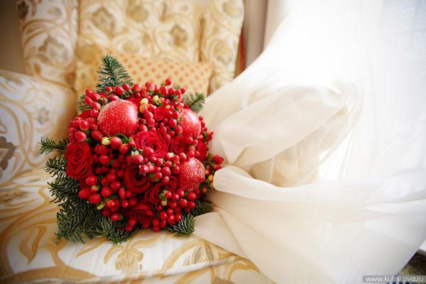 букет невесты зимой