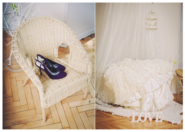 платье и туфли невесты