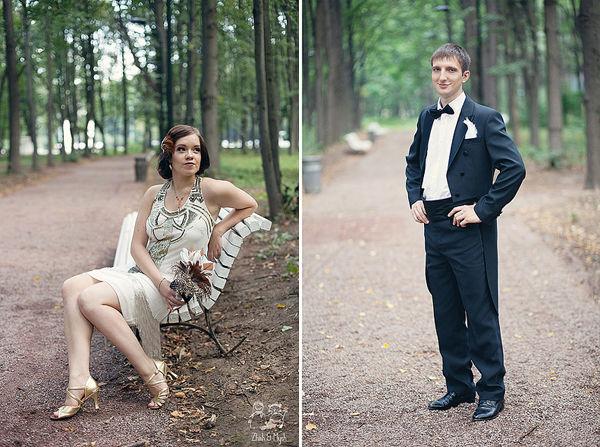 образ жениха и невесты ретро