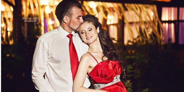 невеста в красном платье